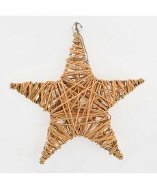 Звезда ротанговая натуральная, 15 см