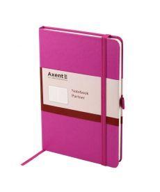 Записная книга блокнот Axent 125x195мм 96л клетка,тв. обл.,пурпурный Partner 8201-05-A