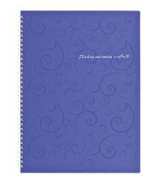 Записная книга коледж-блок А4 Buromax 80 л. клетка пласт. обл. спираль фиолетовый Barocco BM.2446-60