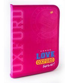 Папка для труда пласт. на молнии с внутр. карманом А4 ''Oxford'' розовый