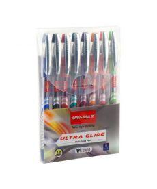 Ручка шариковая Unimax Ultraglide набор 8 цв UX-116-20