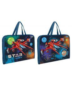 Папка-портфель на блискавці з тканинними ручками ''Star Explorer'' 1 Вересня 491610
