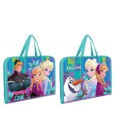 Папка-портфель на блискавці з тканинними ручками ''Frozen'' 1 Вересня 491604