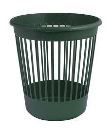 Корзина офисная для бумаг 10 л. пластик зеленый