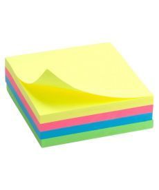 Блок бумаги для заметок липкий слой Axent 75x75мм 250л ассорти цветов неон D3351