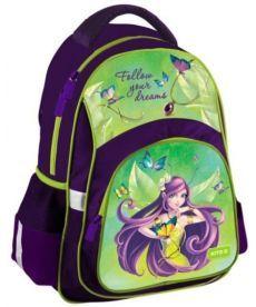 Рюкзак школьный Kite светоотражающие элементы Education фиолетовый K19-518S