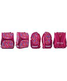 Рюкзак школьный Smart каркасный Hearts Style 555920