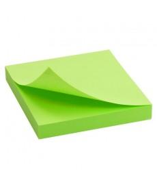 Блок бумаги для заметок липкий слой Axent 75x75мм 100л зеленый D3414-12