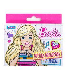 Мел цветной круглый 24 шт. ''Barbie''