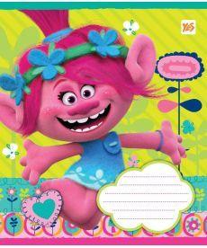 Тетрадь в клетку 12 л. Yes А5 Trolls Pinky 761358