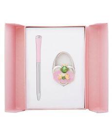 Набор подарочный Fairy Tale: ручка шариковая + крючек д сумки розовый