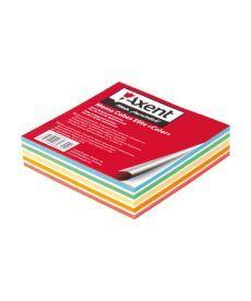 Блок бумаги для заметок Axent проклеенный 90x90x20мм ассорти цветов 8025-A