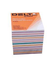 Блок бумаги для заметок непроклеенный Axent 90x90x80мм ассорти цветов D8015