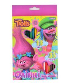Карандаши 18 шт/36 цв. ''Trolls''