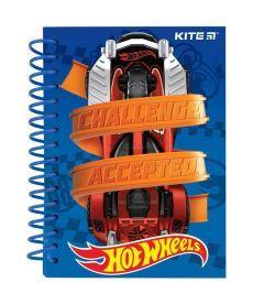 Записная книга блокнот Kite А6 80л Hot Wheels карт. обл,спираль HW19-222