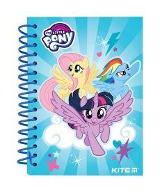 Записная книга блокнот Kite My Little Pony А6 80л.,карт. обл, спираль LP19-222