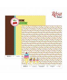 Бумага для скрапбукинга Rosa Cake delicious 1 двусторонняя 30х30см 200г/м2 4823064923339