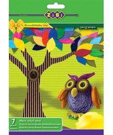 Картон цветной ZiBi картон цветной A4 7стр/7цв ZB.1974