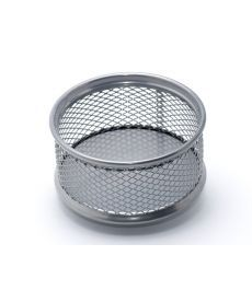 Подставка для скрепок Axent 80x80x40мм метал серебрянная 2113-03-A