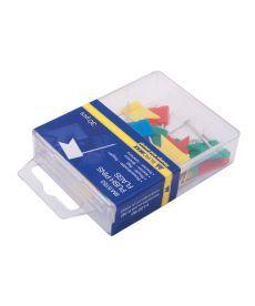 Кнопки-гвоздики цветные флажки 30 шт. пластиковый контейнер