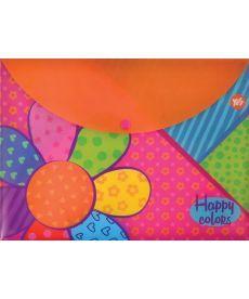 Папка-конверт на кнопке А4 ''Happy colors''