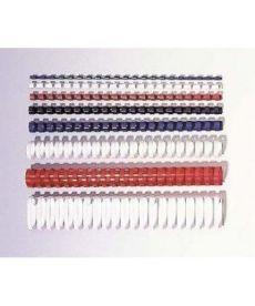 Пластиковые пружины круглые d 6мм белые толщ 2-20 л А4