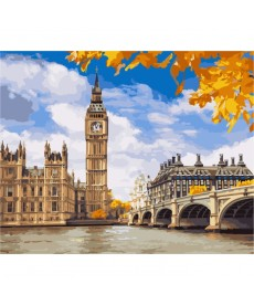 Картина по номерам Осенний Лондон 40 х 50 см (KHO2134)