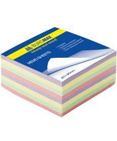 Блок бумаги для заметок непроклеенный Buromax 80х80х30мм ассорти цветов BM.2273