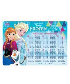 Подложка настольная 1 Вересня Frozen (табл.Умножения) 425х290мм 491475