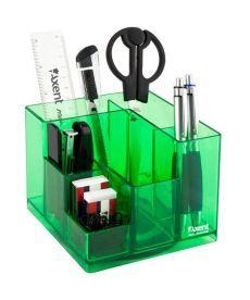 Набор настольный Axent Cube 9 пред карт кор салатовый 2106-09-A