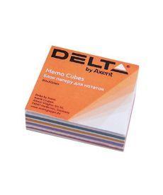 Блок бумаги для заметок Axent проклеенный 80x80x20мм ассорти цветов D8012