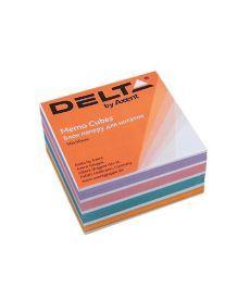 Блок бумаги для заметок Axent проклеенный 90x90x30мм ассорти цветов D8024