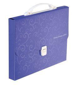 Портфель 35мм Buromax A4 210?297x35мм 1 отд. пластиковый замок Barocco фиолетовый BM.3719-07