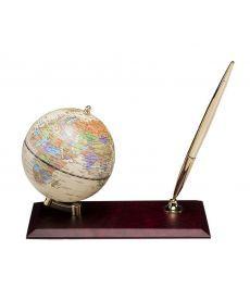Глобус Bestar на деревянной подставке красное дерево 0910WDM