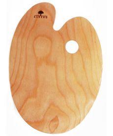 Палитра деревянная овальная эргономичная промасленная 20x30см Rosa