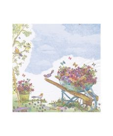 Салфетки декупажные Jet Papier GmbH Тележка с цветами 33x33 см 17.5 г/м2 20 шт ti-flair 410307002758