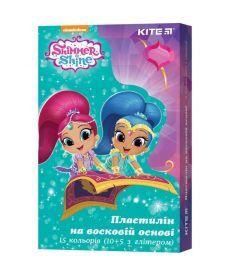 Пластилин Kite Shimmer&Shine восковой 15 цв. 225 г SH19-087