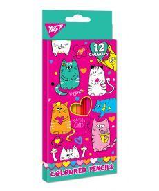 Олівці 12 кол. ''Lovely cats'' Yes 290533