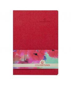Записная книга блокнот Buromax COLOR TUNES А5 искусств. кожа 96л. клетка красный BM.295100-05