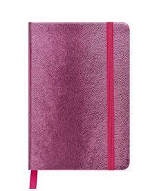 Записная книга блокнот Buromax INGOT 95x140мм искусств. кожа 80л. клетка розовый BM.29012103-10