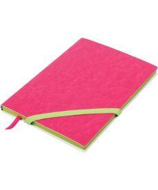Записная книга блокнот Buromax LOLLIPOP А5 искусств. кожа 96л. линия розовый BM.295203-10