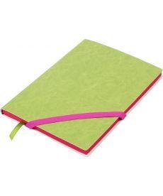 Записная книга блокнот Buromax LOLLIPOP А5 искусств. кожа 96л. линия салатовый BM.295203-15