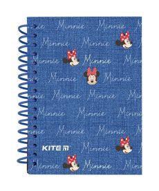 Записная книга блокнот Kite Minnie А6, 80л.,карт. обл, спираль MI19-222