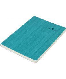 Записная книга блокнот Buromax COLOR TUNES А5 искусств. кожа 96л. линия бирюзовый BM.295200-06