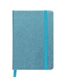 Записная книга блокнот Buromax INGOT 95x140мм искусств. кожа 80л. клетка голубой BM.29012103-14