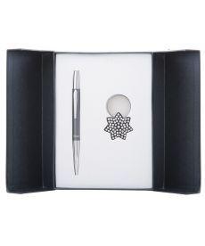 Набор подарочный Star: ручка шариковая + брелок чёрный