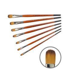 Синтетика овальная Carrot 1097FR № 8 к.р кисть Колос