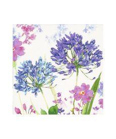 Салфетки декупажные Jet Papier GmbH Акварельные цветы сиреневые 33x33 см 17.5 г/м2 20 шт ti-flair 41