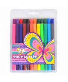 Фломастеры 24 цв. ''Bright butterfly''