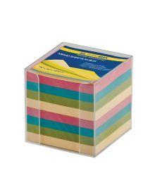Куб с бумагой непроклеенный ассорти цветов прозрачный BM.2291-03